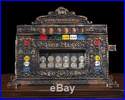 ONLY ONE KNOWN 1903-16 Mills Dewey-Chicago Triplet Slot Machine by Mills Novelty