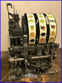 ORIGINAL 1930's 1¢ Mills Roman Head Antique Slot Machine coin op