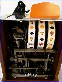 ORIGINAL 1930's 1¢ Pace Bantam Antique Slot Machine. Coin op