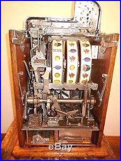 ORIGINAL 1930's 25¢ MILLS MELON BELL BURSTIN CHERRY SLOT MACHINE