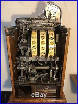 ORIGINAL 1931 25¢ Mills SILENT FOK Antique Slot Machine coin op