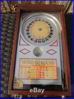 ORIGINAL 1933 A. B. T. MFG. CO. 1cent MERRY-GO-ROUND ROULETTE TRADE STIMULATOR
