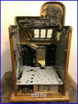 ORIGINAL 1940's 25¢ Mills Antique Slot Machine Golden Nugget model coin op