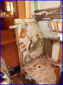 ORIGINAL 1940's 25¢ Mills Antique Slot Machine WATER MELON HI TOP