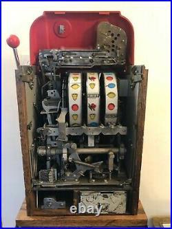ORIGINAL 1940's 25¢ Mills Antique Slot Machine coin op