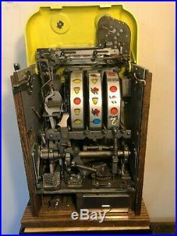 ORIGINAL 1940's 25¢ Mills Antique Wild Deuce Slot Machine coin op