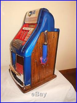 ORIGINAL 1940's 50¢ Mills 777 HI TOP Antique Slot Machine RESTORED