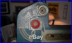 Original Antique 1933 Mills One Cent Special Gold Award Blue Front Slot Machine