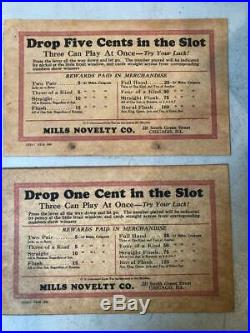 ORIGINAL CONDITION- Mills novelty'THE JOCKEY-'5 reel poker trade stimulator