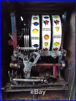 Old Antique 1935 WATLING BLUE SEAL 5 Cent SLOT MACHINE Gambling Casino WORKS