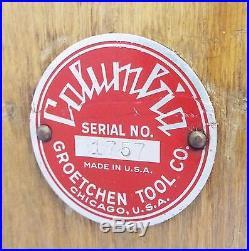 Old Antique COLUMBIA 5 Cent Cigarette Advertising 3 Reel SLOT MACHINE