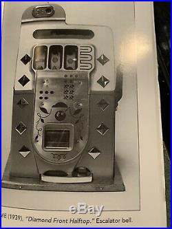 Old Antique Vintage 1930's Mills Diamond Front Nickel 5 Cent Slot Machine Works
