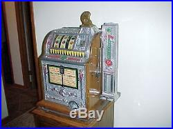 Original 1922 Mills OK Antique Slot Machine WithSide Vendor and Future Pay