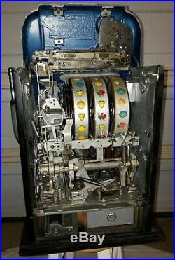 Original 1940s Mills Quarter Antique High Top Slot Machine 25 Cent