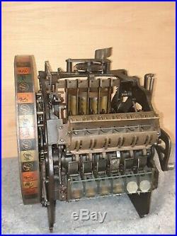 Original Antique 5c Mills Check Boy Coin-Op Slot Machine/Trade Stimulator