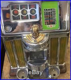 Original Jennings Light Up Antique Slot machine inserts, catalin or bakelite