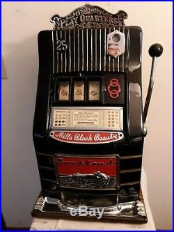 Original1930's 25¢ Mills Brooklands Car Machine. Coin Op