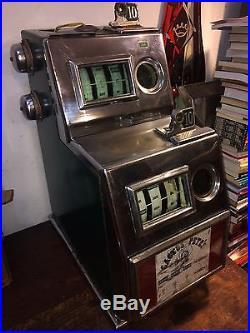 PACE Double Dime 10c Slot Machine Cactus Petes Casino Parts Repair WATCH WORKS