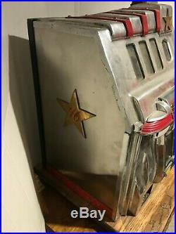 Pace Fifty 50 Cent Antique Mechanical Slot Machine Complete Original