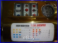 Pace Harrahs Antique Slot Machine & Stand