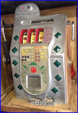 Pace Kitty read description & more Mills Golden Falls 10 Cent Slot Machine