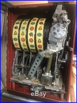 Pace Slot Machine 4/FOUR REELS! Working Condition! Harveys Wagon Wheel