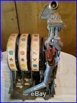 Pace/jennings/mills Slot Machine Coin Op 5 Cent Reel Mechanism Assembly