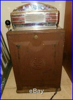 RARE 1940's Jennings Indian Sun Chief 10 Cent Slot Machine WORKS WELL