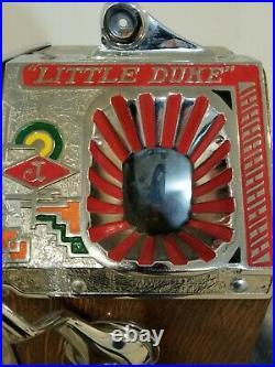 RARE Antique JENNINGS LITTLE DUKE Penny 1C Slot Machine