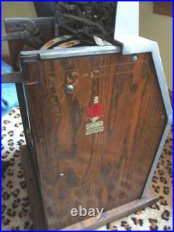 RARE Antique Mills Roman Head $. 05 Slot Machine, Original, Excellent, Gold Award