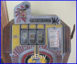 RARE Antique Mills War Eagle $. 25 Console Slot Machine, Original, Complete