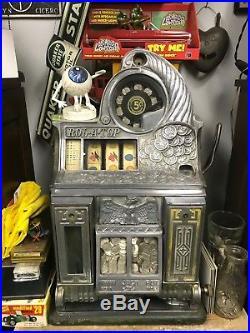 RARE Antique Rol-A-Top A Top 5 Cent Slot Machine ALL ORIGINAL