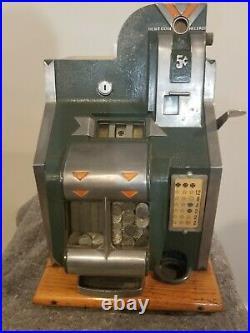 RARE Antique Vintage Mills Novelty Company Nickel 5C Slot Machine