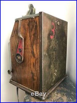 RARE Antique WATLING Blue Seal CONFECTIONS VENDOR 5 Cent SLOT MACHINE Vintage