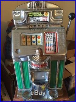 Rare Jennings Antique Slot Machine Nevada Club Baby Buckaroo