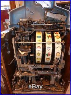 Rare Original O. D. Jennings 1941'silver Moon Chief' 10 Cent / Dime Slot Machine