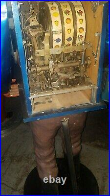 RARE! Sanchez Mills Hightop Wooden Carved Gold Prospector Slot Machine Statue