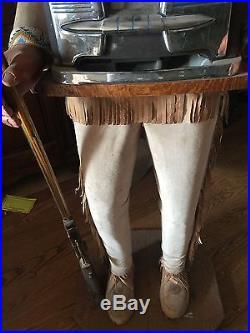 RARE, UNIQUE & Vintage MOUNTAIN MAN MILLS SLOT MACHINE Excellent Condition