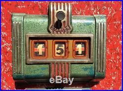 RARE Vtg 40s-50s Rotina Wooden Gambling Pull Handle Slot Machine GERMAN MADE