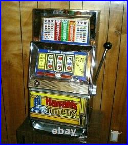 RARE Vtg BALLY 909 Electro Mechanical ONE CENT Penny SLOT MACHINE with Stand READ