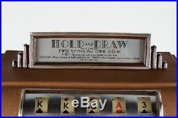 Rockola Hold And Draw Slot Machine Trade Stimulator, Gum Vendor Works Restored