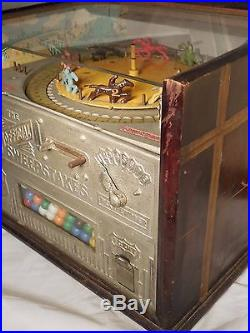 ROCKOLA OFFICIAL SWEEPSTAKES HORSERACING ROULETTE TRADE STIMULATOR Gum Machine