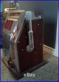 Rare 1939 Mills Chrome Bell 25 cent slot machine