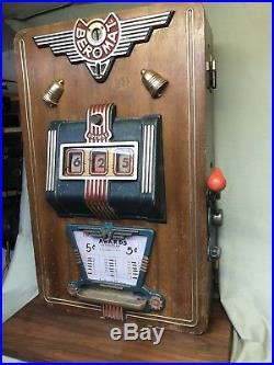 Rare 1940-50s Vintage Beromat Bremse German Nickel Slot Machine Working