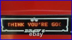 Rare 1981 DRAW 5 coin op video poker bar top casino machine by Computer Kinetics