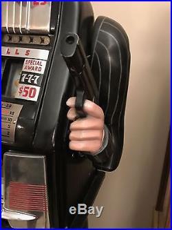 Rare 25 Cent Mills Hi-Top Al Capone Life Size Figure Slot Machine POLK STYLE