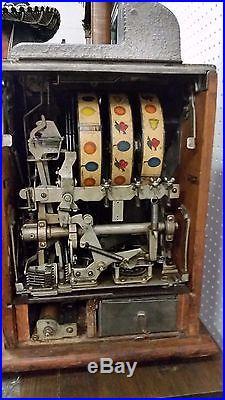 Rare 5 Cent War Eagle Slot Machine by Mills Original circa 1930s