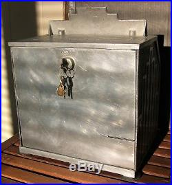 Rare Antique 1934 Daval Chicago Club-house 5-reel Poker Slot Machine + Gumball