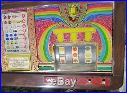 Rare Antique Bally Draw Bell Console Slot Machine Vintage Man Cave