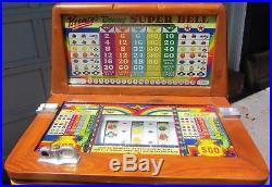 Rare Antique Keeney Bonus Super Bell 500 console slot machine Vintage Man Cave